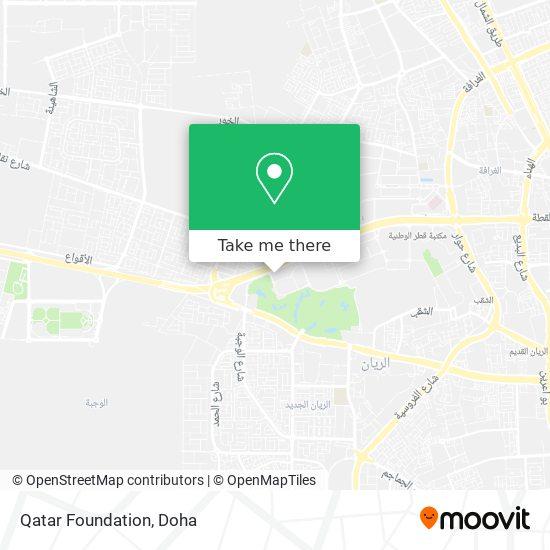 Qatar Foundation map