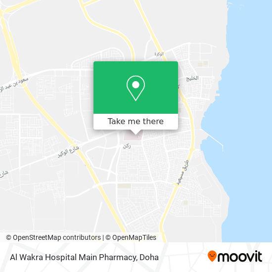 Al Wakra Hospital Main Pharmacy map