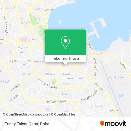 Trinity Talent Qatar map