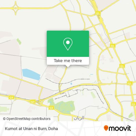 Kumot at Unan ni Burn map