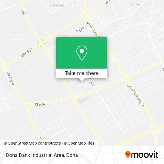 Doha Bank Industrial Area map