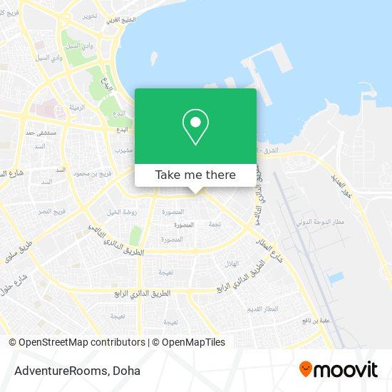 AdventureRooms map