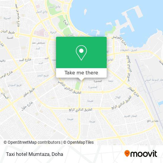 Taxi hotel Mumtaza map