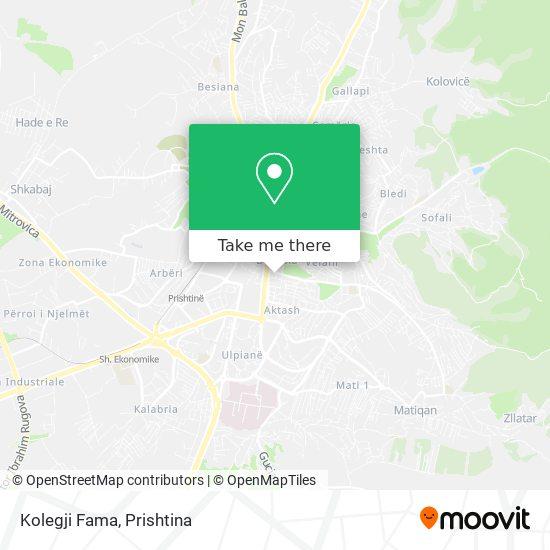 Kolegji Fama map