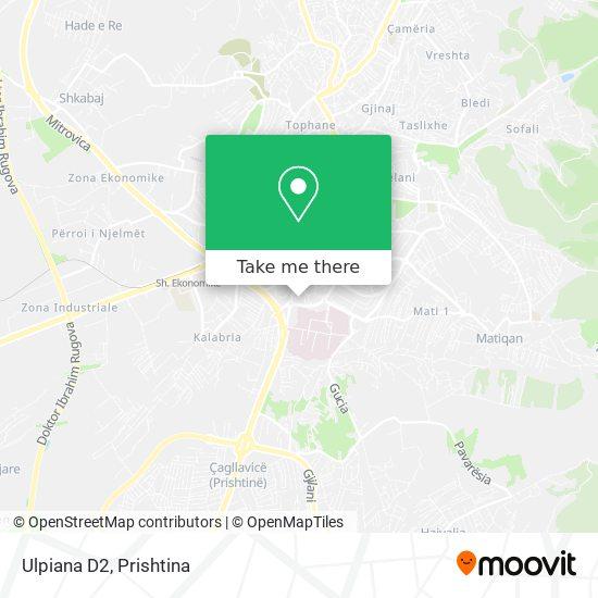 Ulpiana D2 map