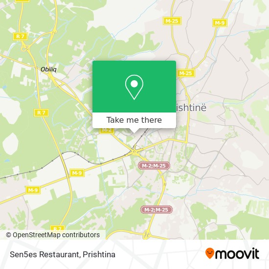 Sen5es Restaurant map
