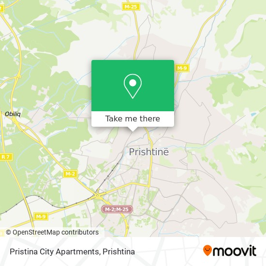 Pristina City Apartments map