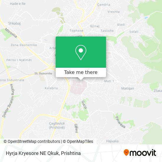 Hyrja Kryesore NE Qkuk map
