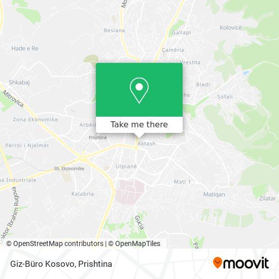 Giz-Büro Kosovo map