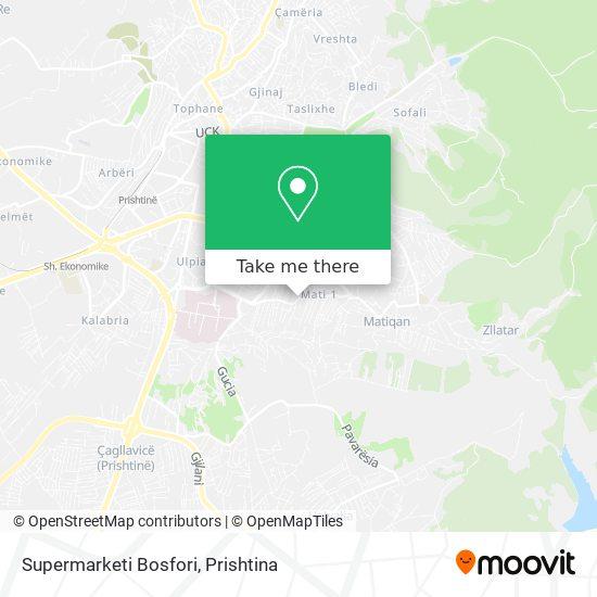 Supermarketi Bosfori map