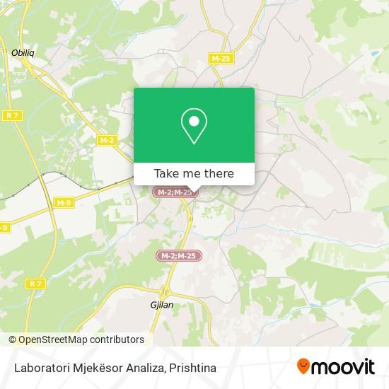 Laboratori Mjekësor Analiza map