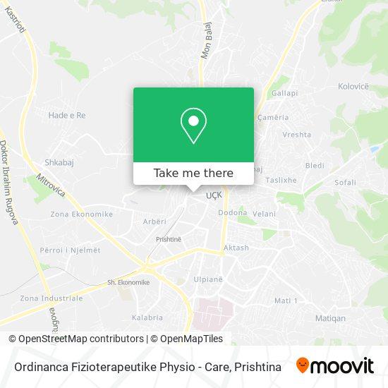 Ordinanca Fizioterapeutike Physio - Care map