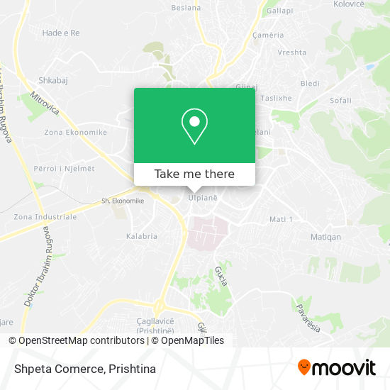 Shpeta Comerce map