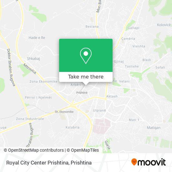 Royal City Center Prishtina map