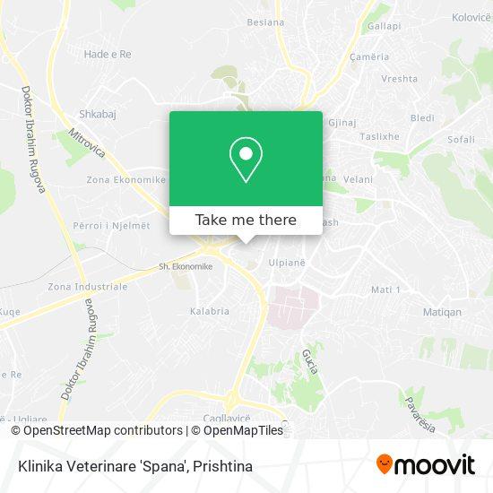 Klinika Veterinare 'Spana' map