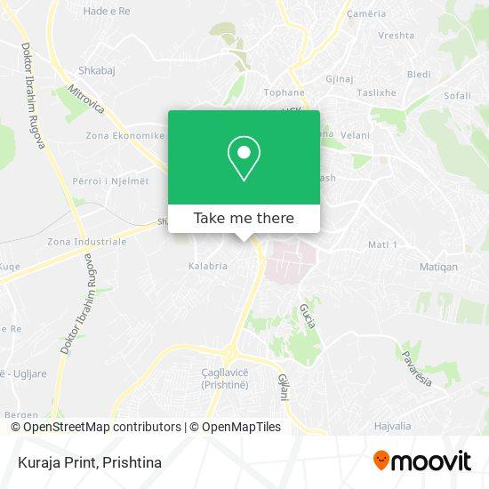 Kuraja Print map