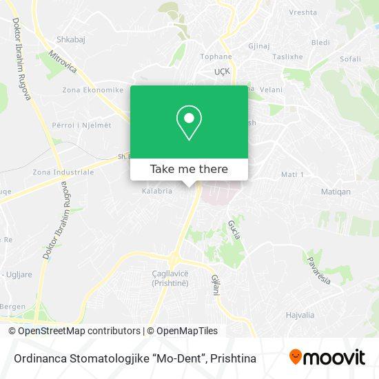 """Ordinanca Stomatologjike """"Mo-Dent"""" map"""