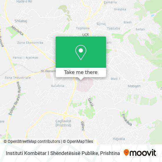 Instituti Kombëtar I Shëndetësisë Publike map