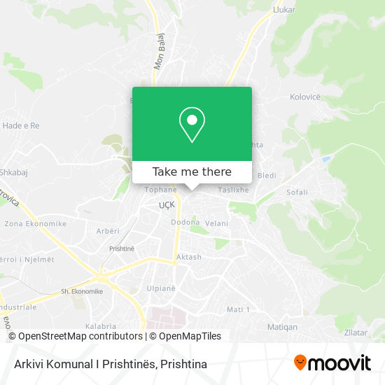 Arkivi Komunal I Prishtinës map