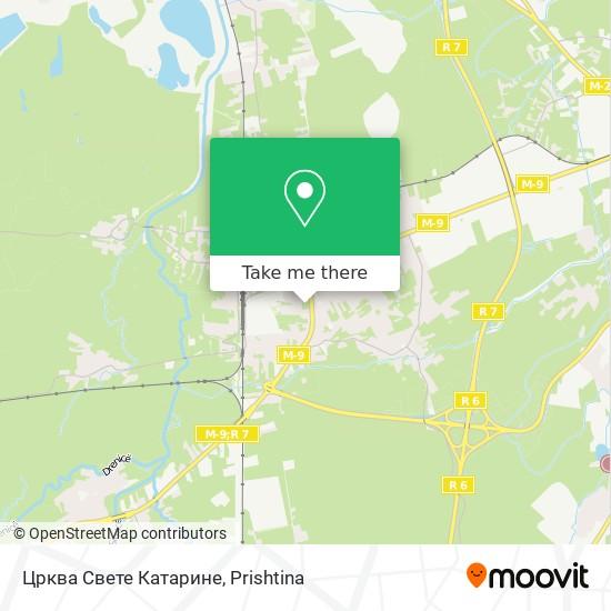 Kisha E Katarines map