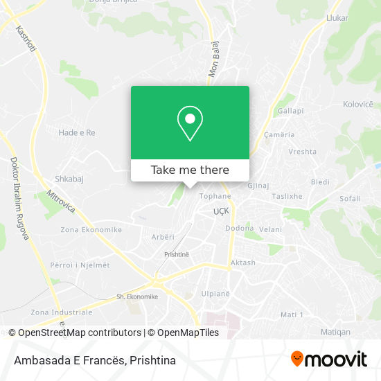 Ambasada E Francës map