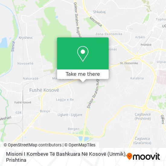 Misioni I Kombeve Të Bashkuara Në Kosovë (Unmik) map