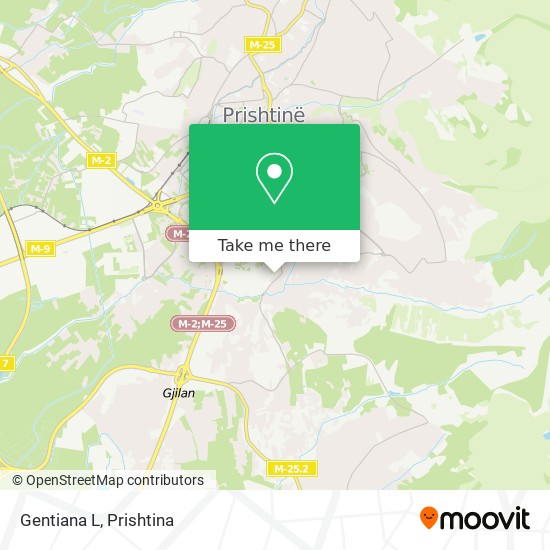 Gentiana L map