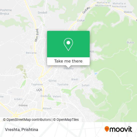 Vreshta map