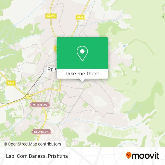 Labi Com Banesa map