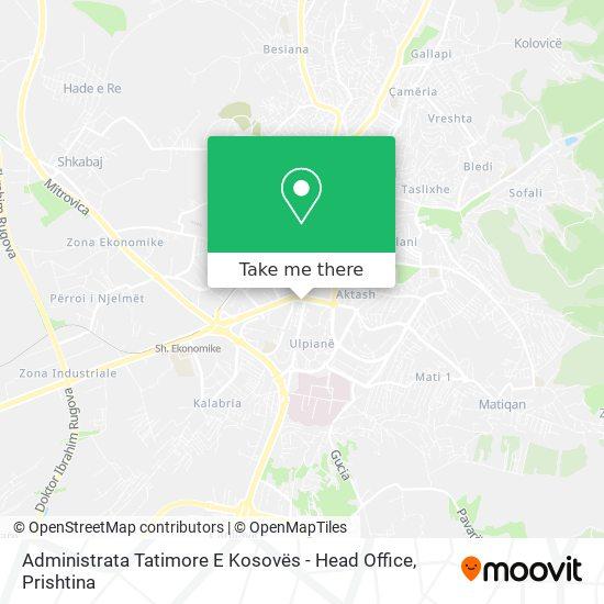 Administrata Tatimore E Kosovës - Head Office map