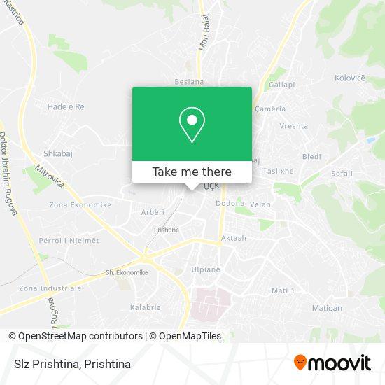 Slz Prishtina map