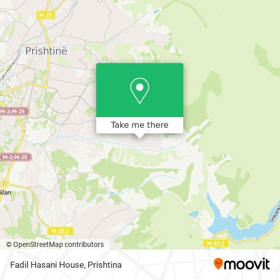 Fadil Hasani House map