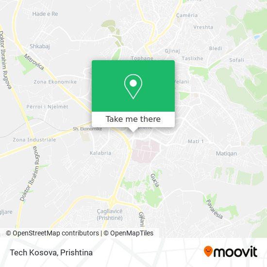 Tech Kosova map