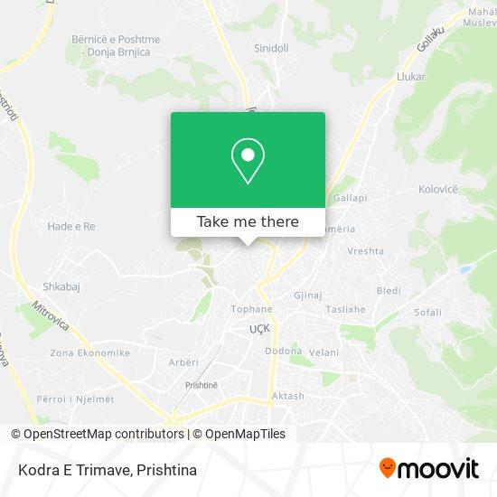 Kodra E Trimave map
