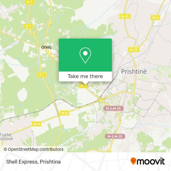 Shell Express map