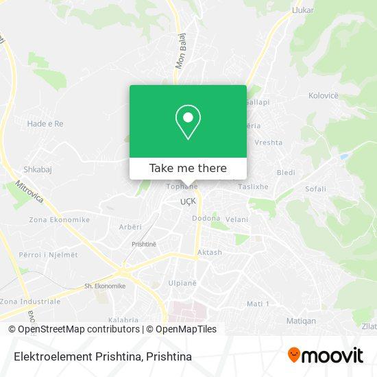 Elektroelement Prishtina map