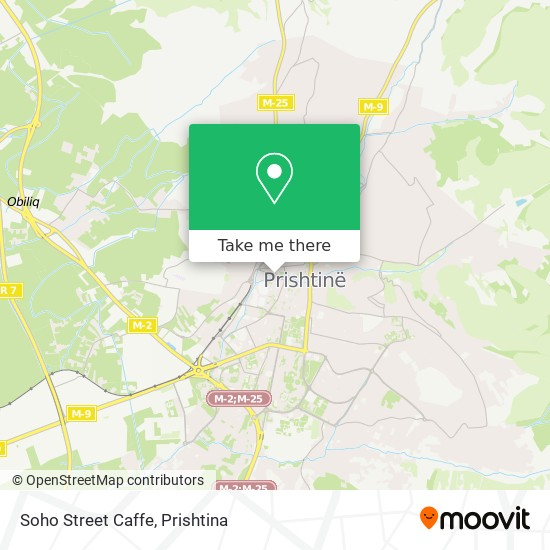 Soho Street Caffe map