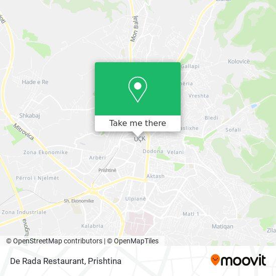 De Rada Restaurant map