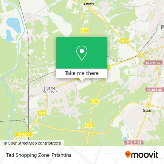Ted Shopping Zone map