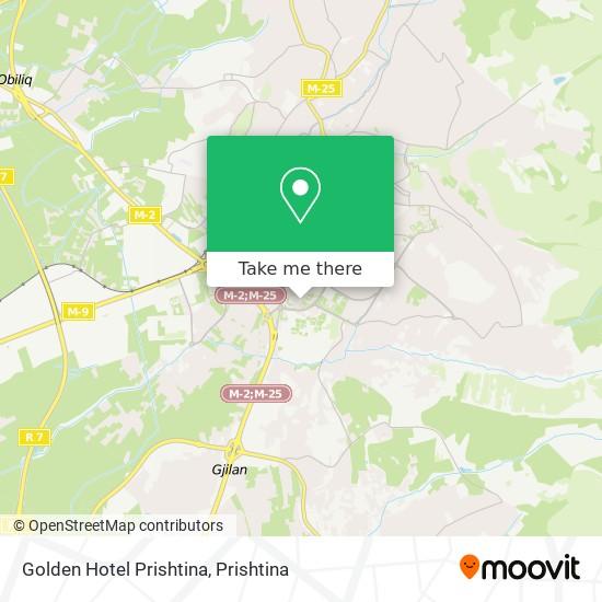 Golden Hotel Prishtina map