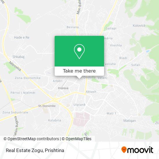 Real Estate Zogu map