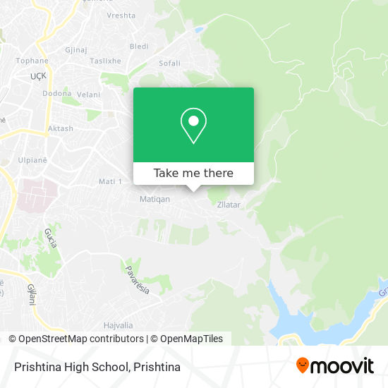 Prishtina High School map