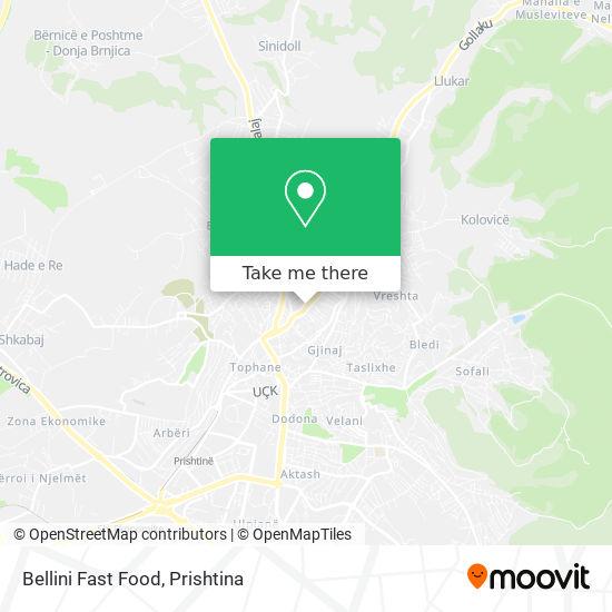 Bellini Fast Food map