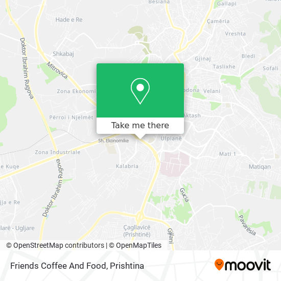 Friends Coffee And Food map