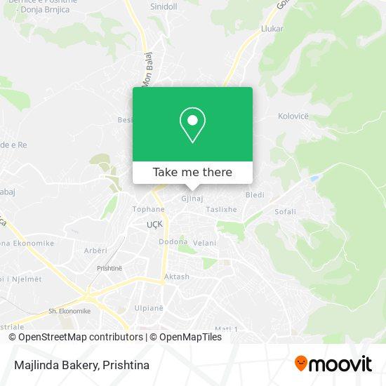 Majlinda Bakery map
