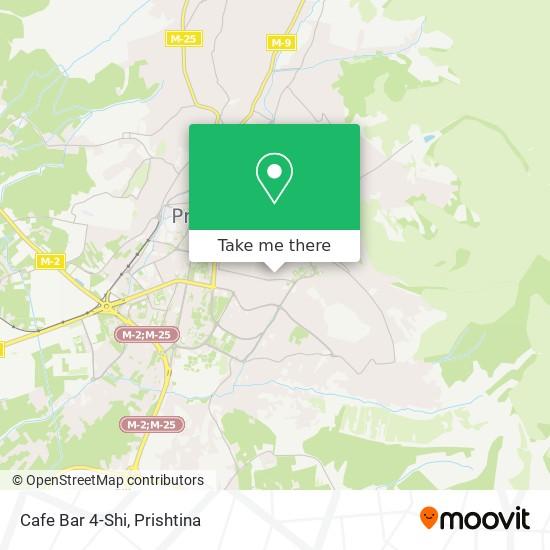 Cafe Bar 4-Shi map