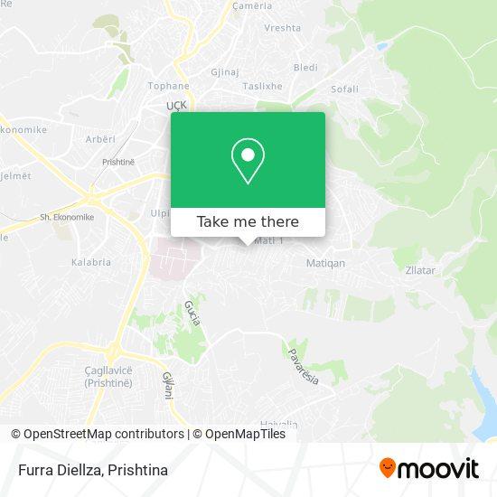 Furra Diellza map