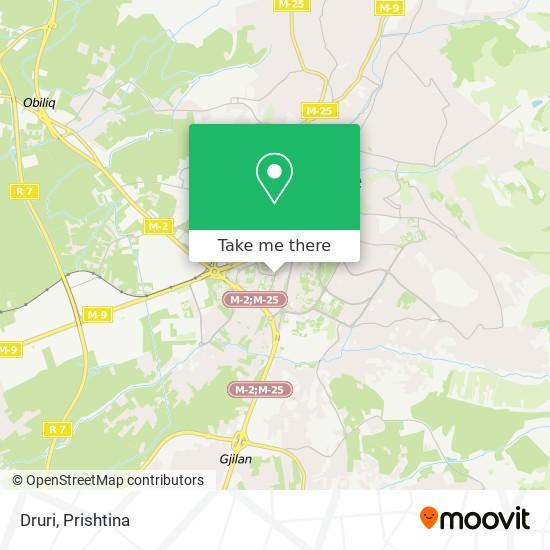 Druri map