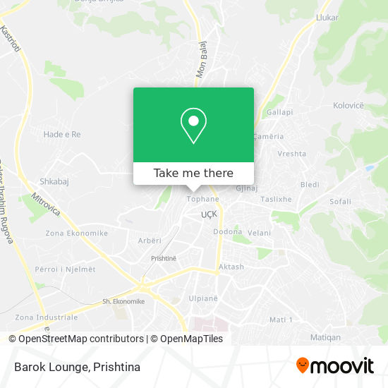 Barok Lounge map