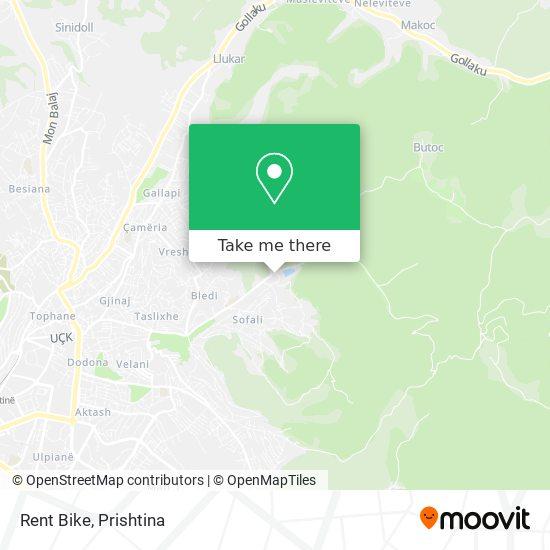 Rent Bike map